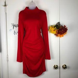 EXPRESS WOMEN SWEATER DRESS BODYCON HI NECK SZ LG